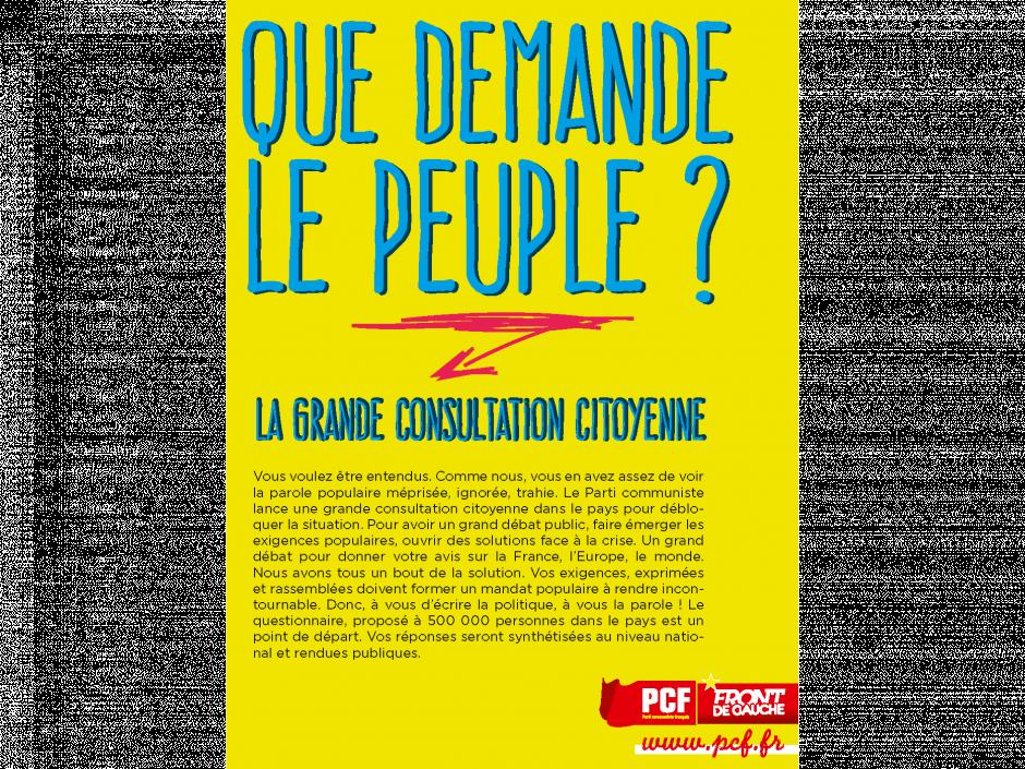 Répondez à la grande consultation citoyenne du PCF