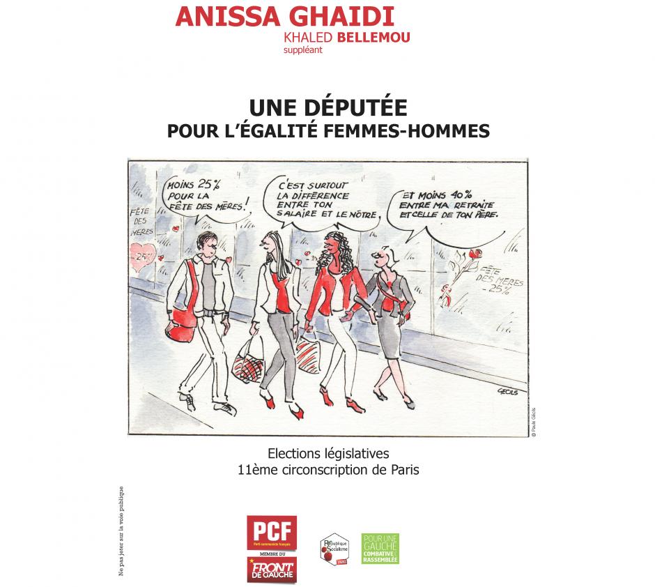 Anissa Ghaïdi, Une députée pour l'égalité femmes-hommes dans la 11ème circonscription de Paris