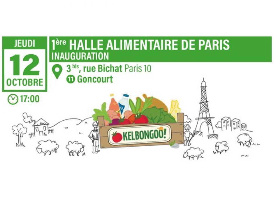 Engagement de mandat des élus communistes: Inauguration de la 1ère halle alimentaire de Paris