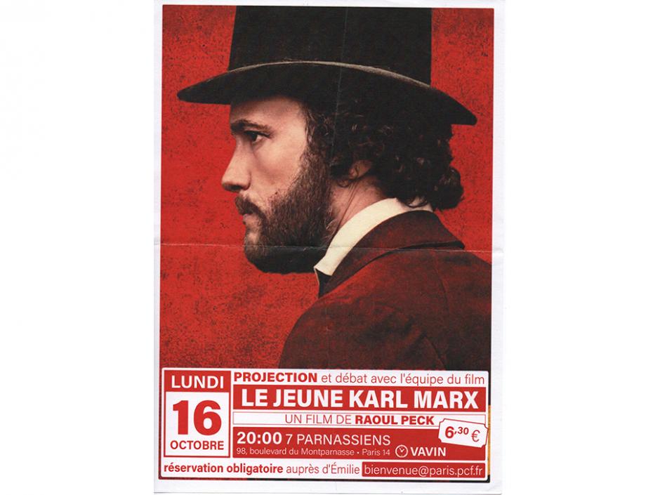Le jeune Karl Marx; Projection/Débat aux sept Parnassiens