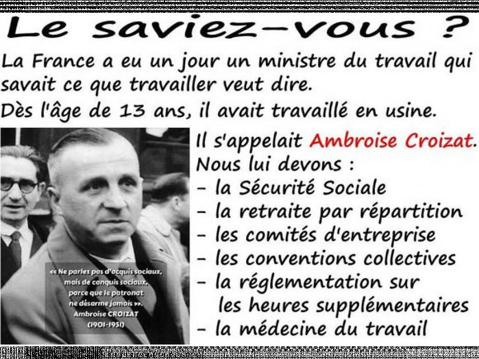 Ambroise Croizat (1901-1951) Saviez-vous ce qu'on lui doit?