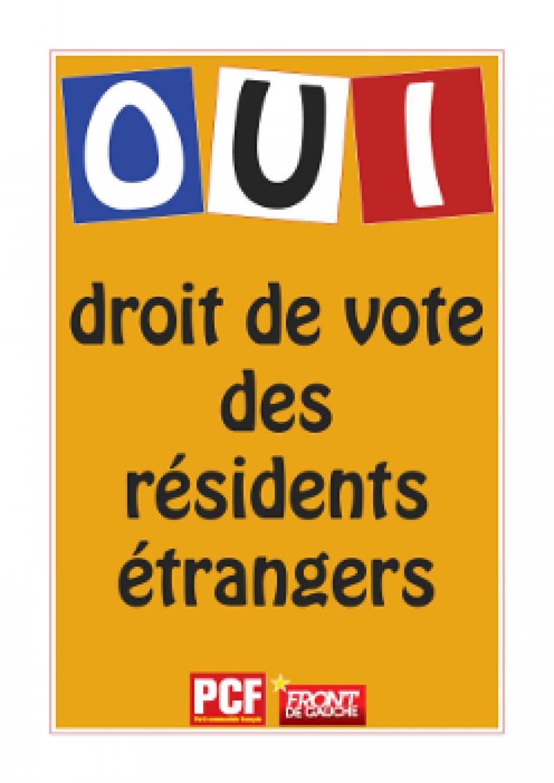 Le PCF Paris 14 s'engage pour le droit de vote des résidents étrangers
