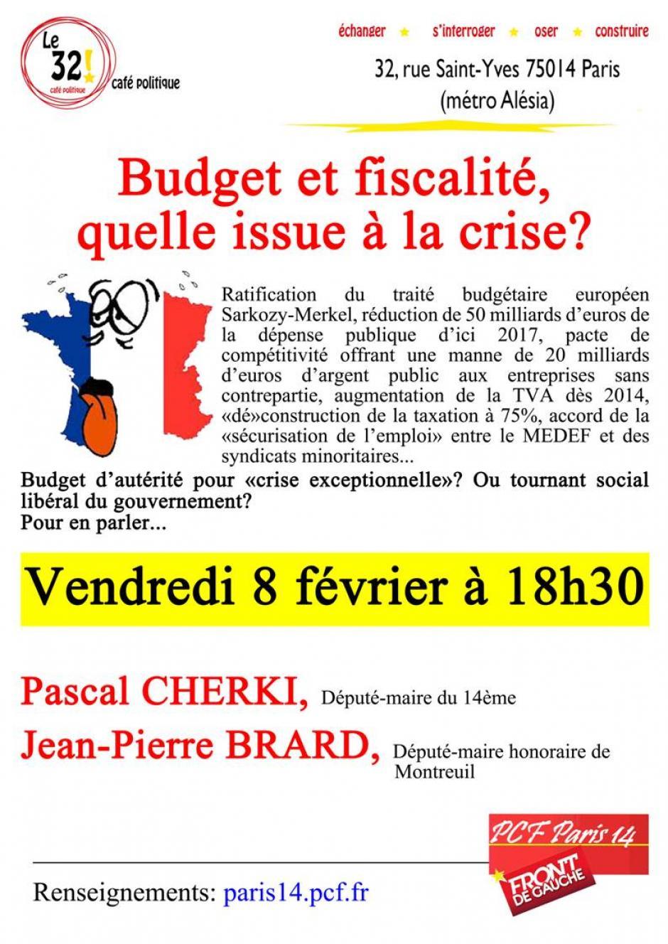 Café politique: Budget et fiscalité