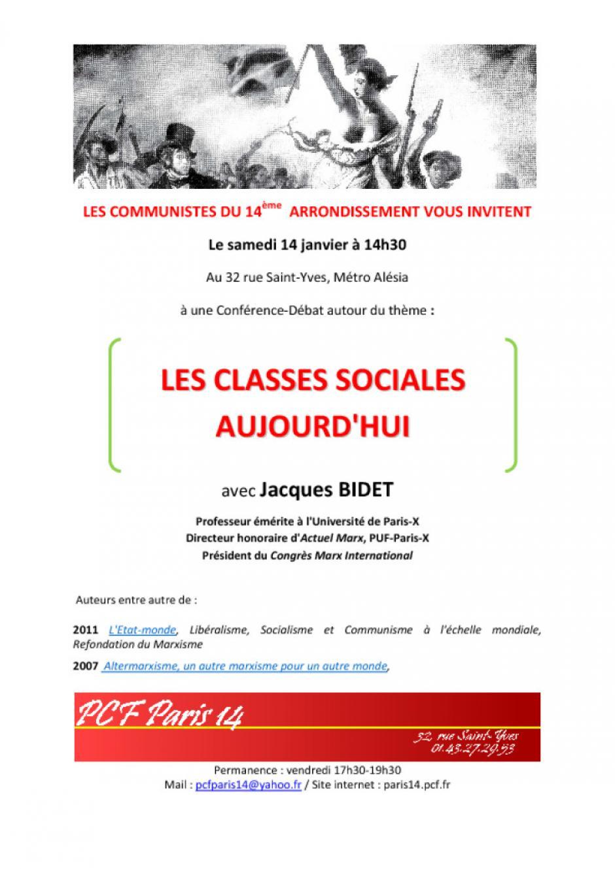 Conférence-débat sur les classes sociales aujourd'hui