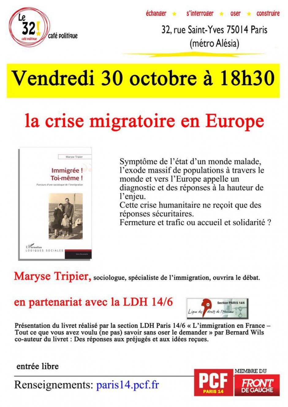 La crise migratoire en Europe