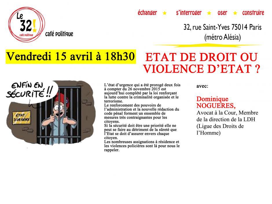 État de droit ou violence d'État? Avec Me Dominique Noguères