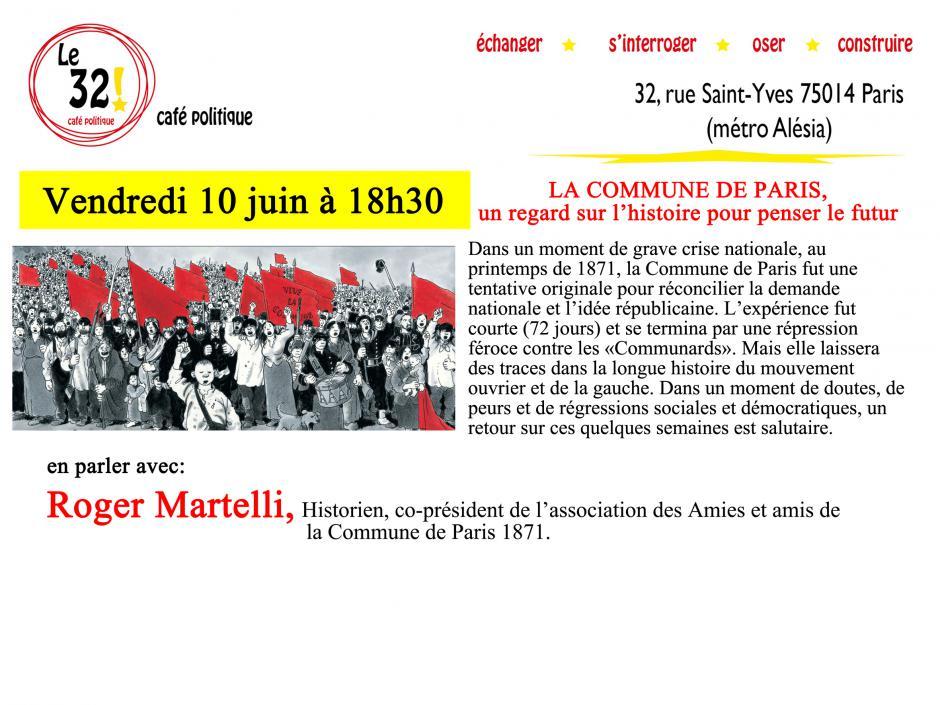 La Commune de Paris, un regard sur l'histoire pour penser le futur