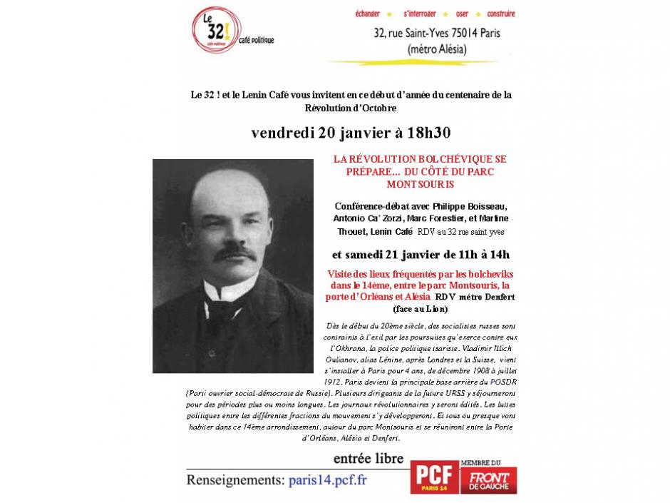 La Révolution Bolchévique se prépare... du côté du Parc Montsouris