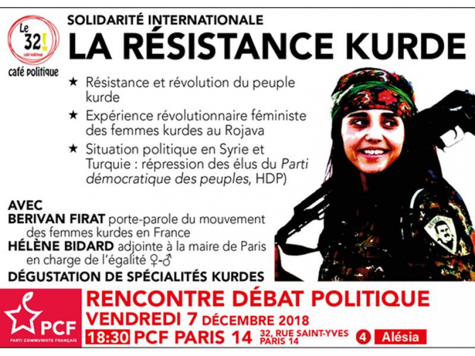 Solidarité internationale: La résistance kurde au «32» Café Politique