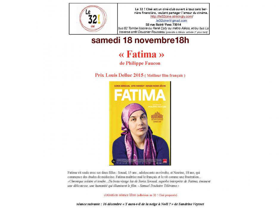 «Fatima» au «32! Ciné»