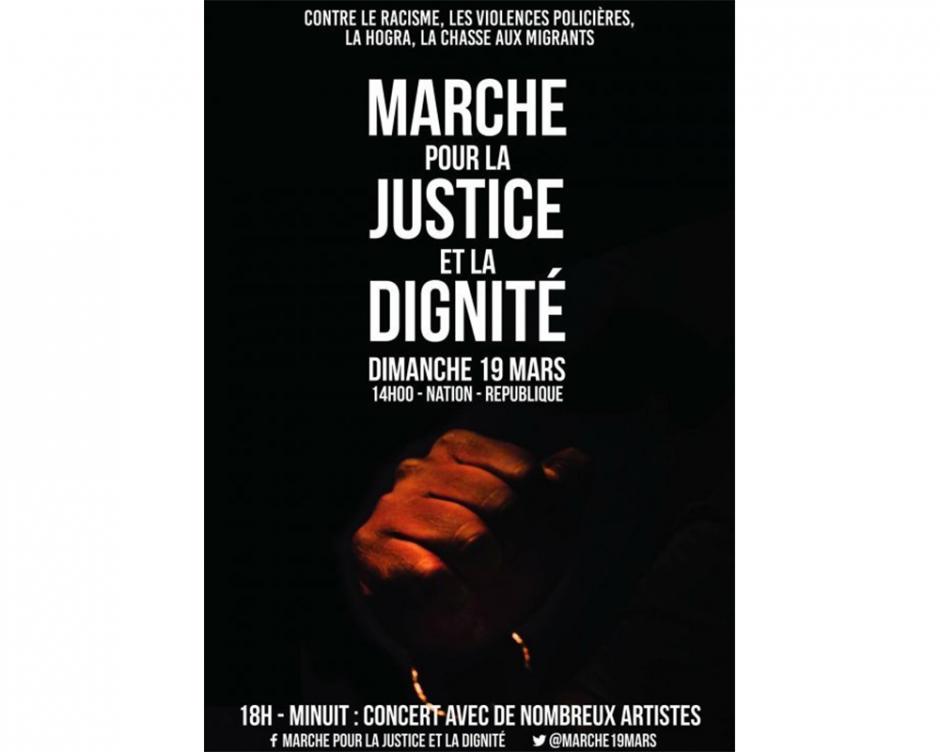 Pour la justice, la dignité et l'égalité, marchons le 19 mars 2017! 14h Nation - République