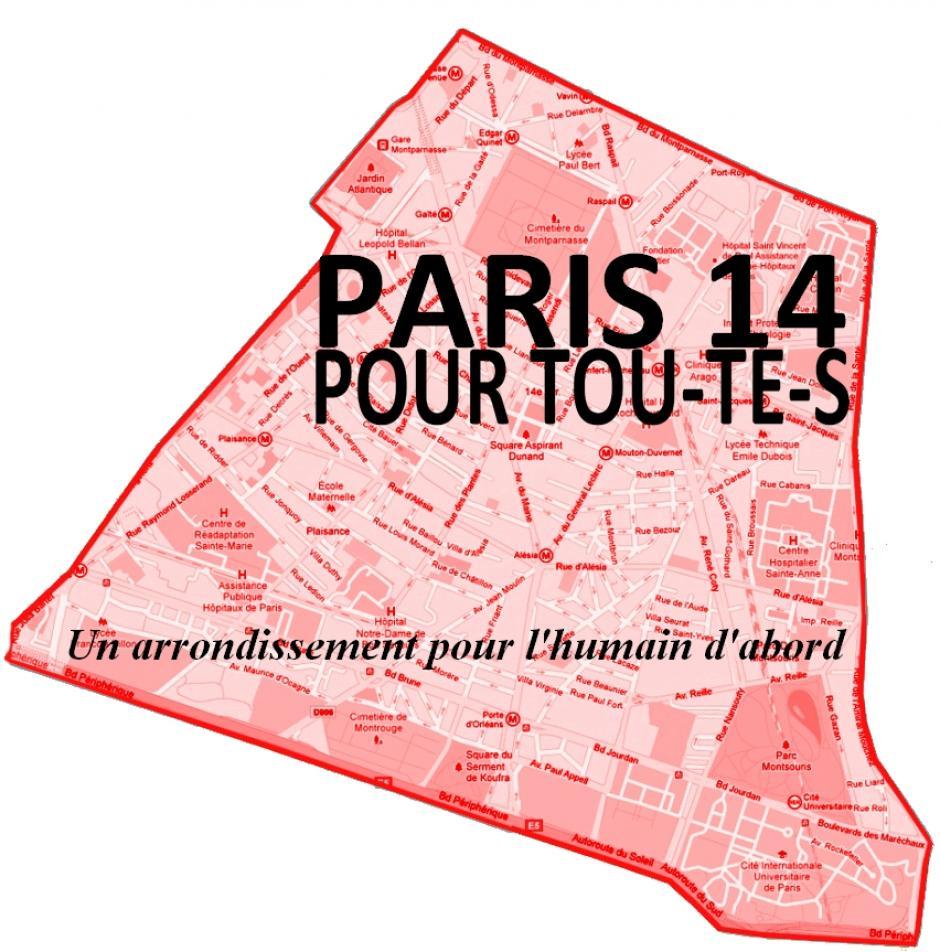 Paris 14 pour tou-te-s: un arrondissement pour l'humain d'abord