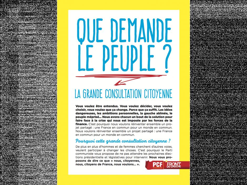 Que demande le peuple? Rendez-vous avec les communistes du quartier ce samedi 2 juillet à 10h00 rue du Moulin de la Vierge à l'entrée de la cité