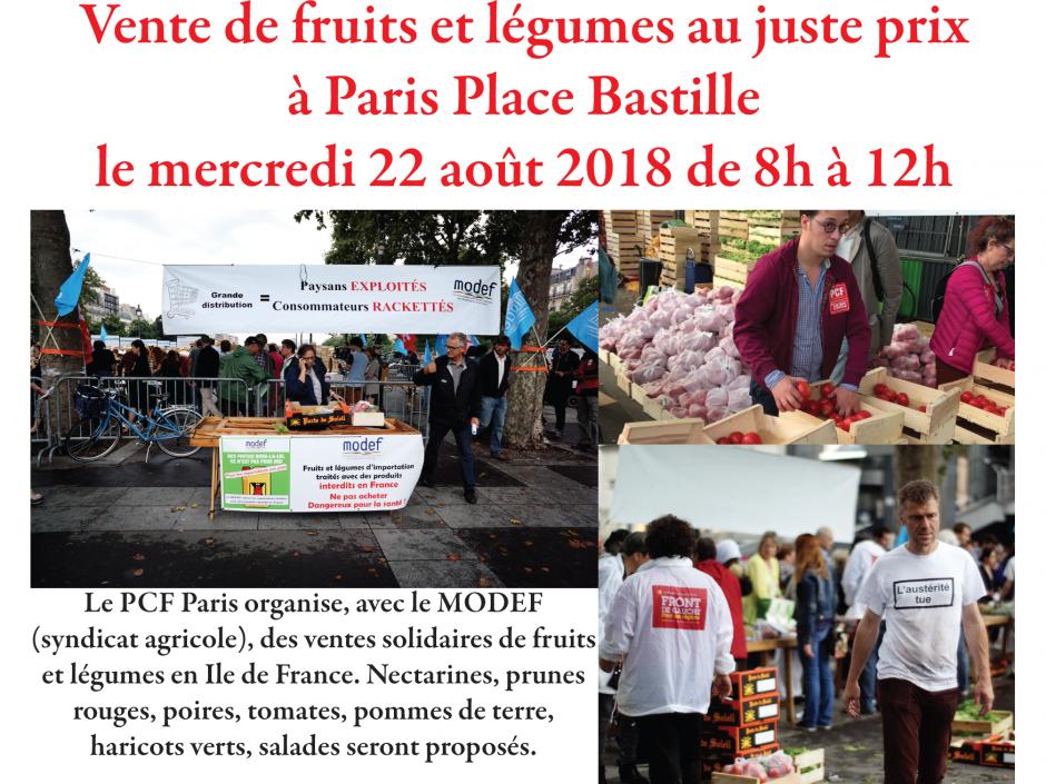 Vente de fruits et légumes au juste prix à Paris