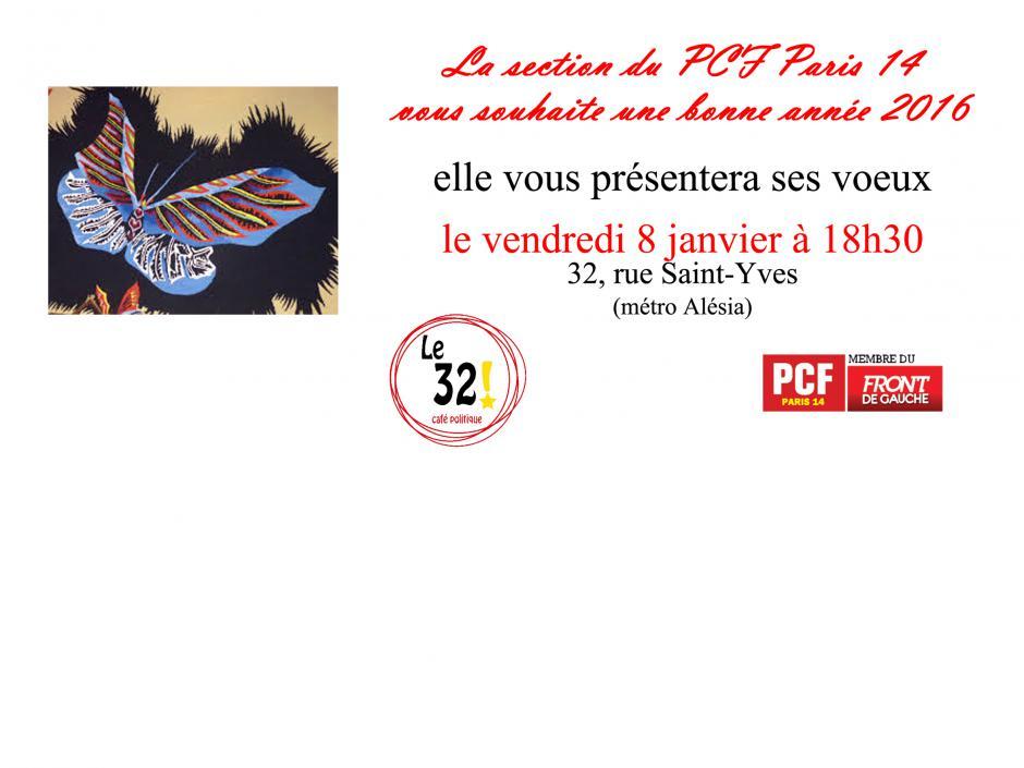 La Section du 14e arrondissement de Paris du PCF vous souhaite une bonne année 2016