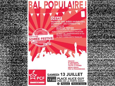 BAL POPULAIRE 13 JUILLET DANS le 14e