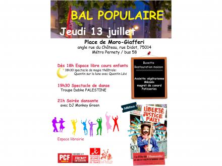 Bal Populaire de la Section PCF de Paris 14e Jeudi 13 juillet