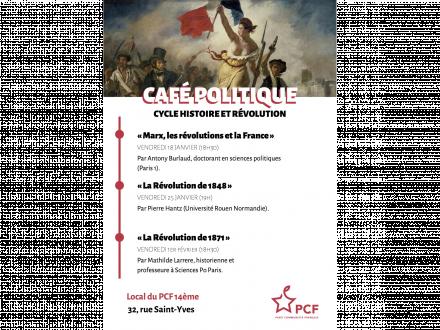 Cycle Histoire et Révolution au 32! Café Politique